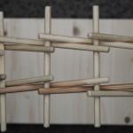 Собранный конструктор-головоломка «Мост Леонардо» - вид сверху